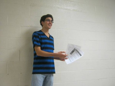 Junior club president Cameron Tehranchi hosts monthly meetings.