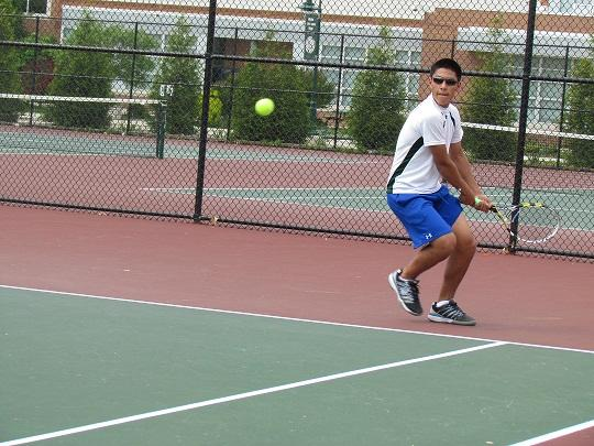After strong start, tennis finishes second at counties