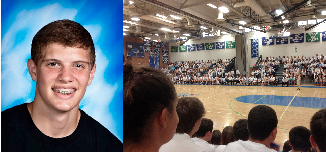 Students, staff and family members gathered in the CHS auditorium at 7 p.m. May 21 to remember sophomore Evan Rosenstock.
