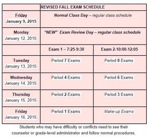 Students, staff 'surprised' by exam schedule change