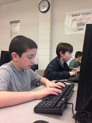 Students begin working on producing an issue of the new Cougar Legend.