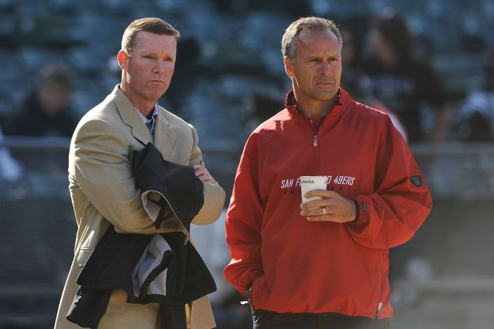 New Redskins GM Scot McCloughan (left) led both the 49ers and Seahawks to a Super Bowl appearance.