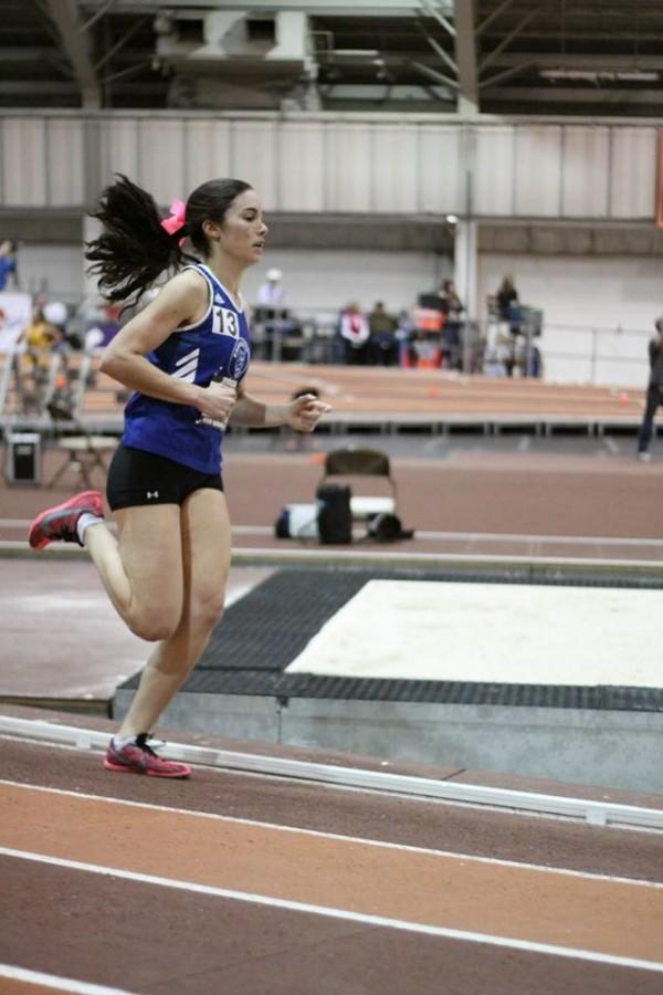 Srour competes in the mile during the Virginia Tech invitational Jan. 31.