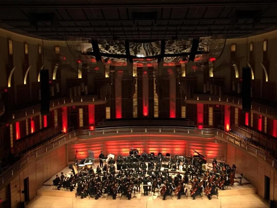 Students performed in front of a large audience at Strathmore.