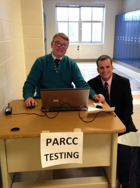 Information Technology specialist Robert Jones and assistant principal Joshua Neuman-Sunshine have overseen PARCC implementation this year.