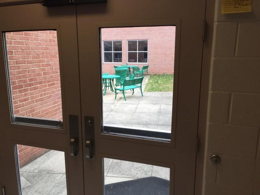 The courtyards have been closed off for students and CRAP is working to get them open again for students.
