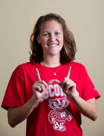 Olympic Trials qualifier senior Hannah Lindsey will join the University of Wisconsin Class of 2020. Lindsey proudly displays her Badger pride.