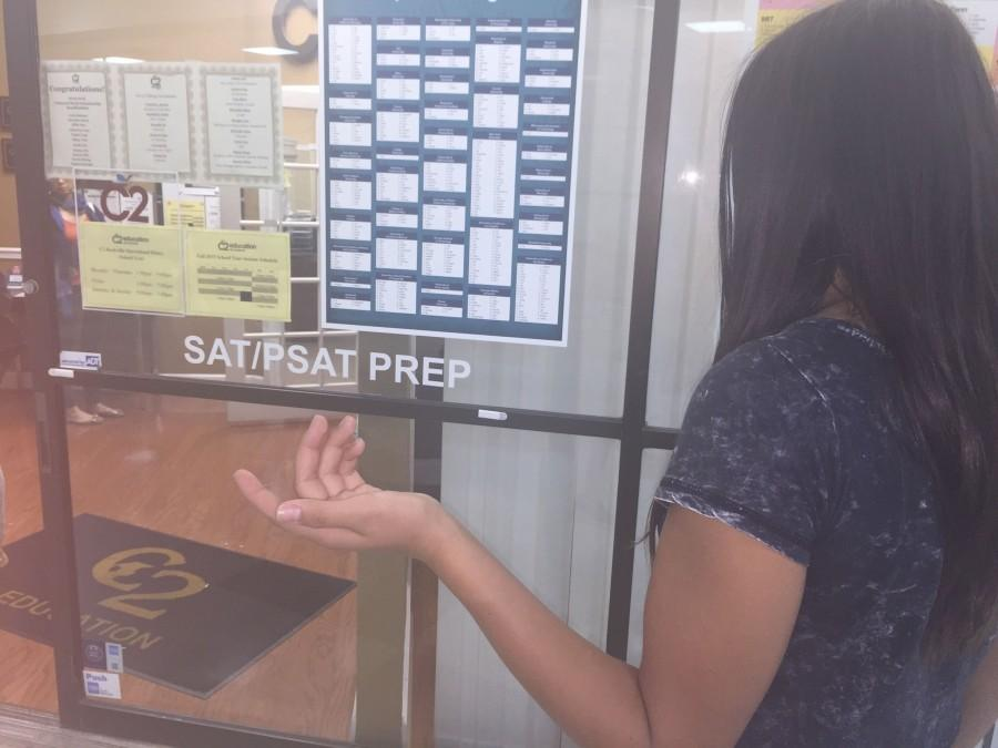 Sophomore Eliana Espinosa wonders whether to sign up for SAT prep or not, depending on whether colleges will require the test.