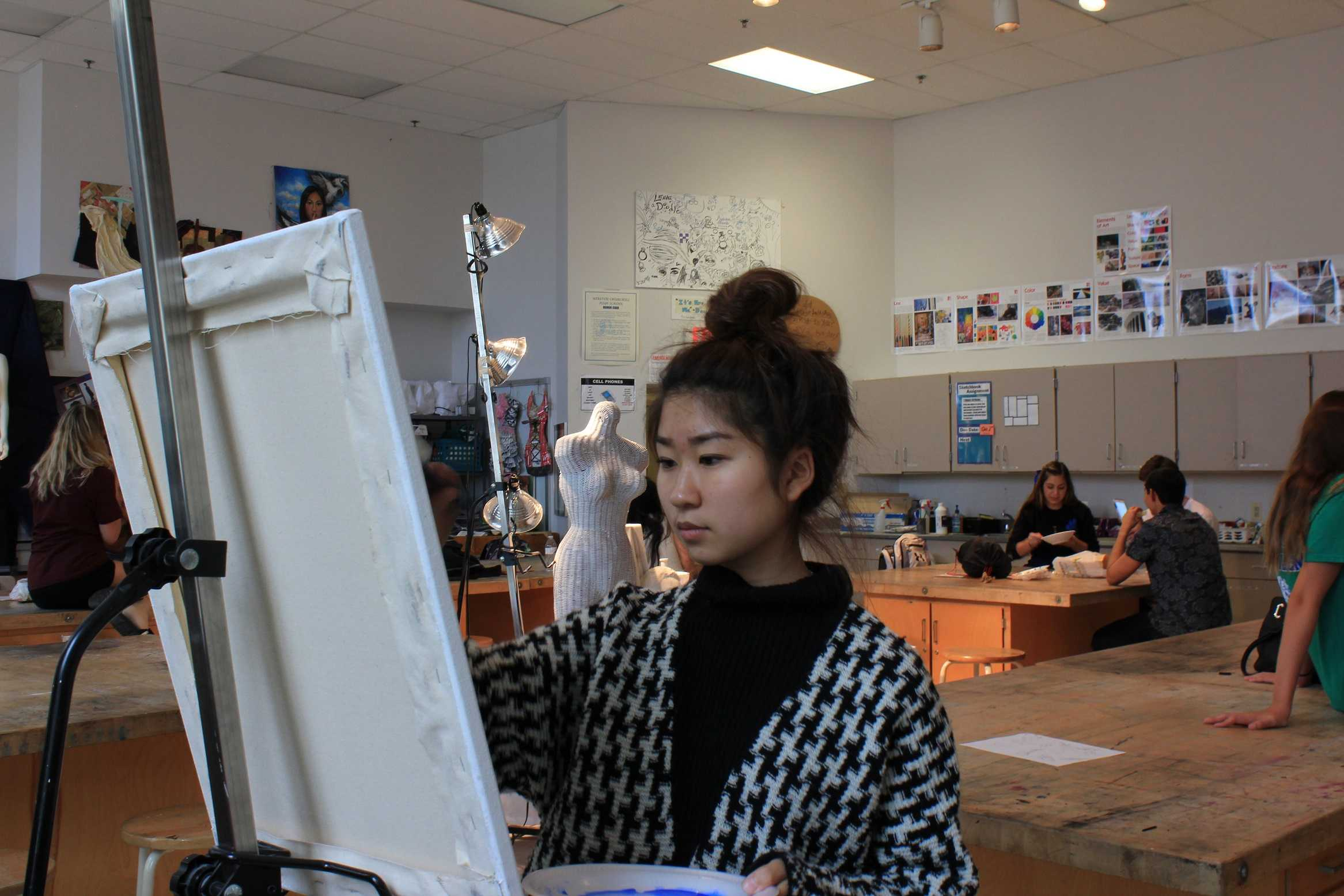 Senior Sophia Kim is a musician and avid painter whose favorite painting is of her parents. She was inducted into the National Society of Arts and Letters and has traveled to Korea to paint for the less fortunate.