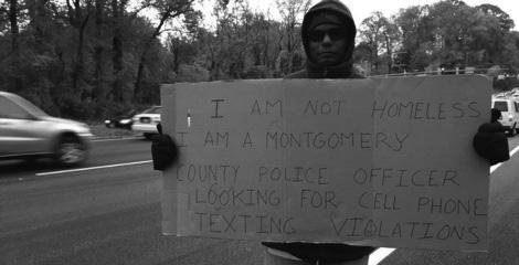 We're Begging Police Officers to Get Off the Median