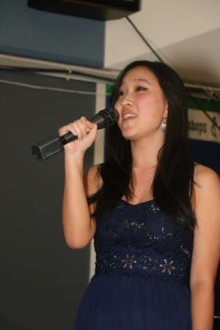 Senior Natalie Hwang performs