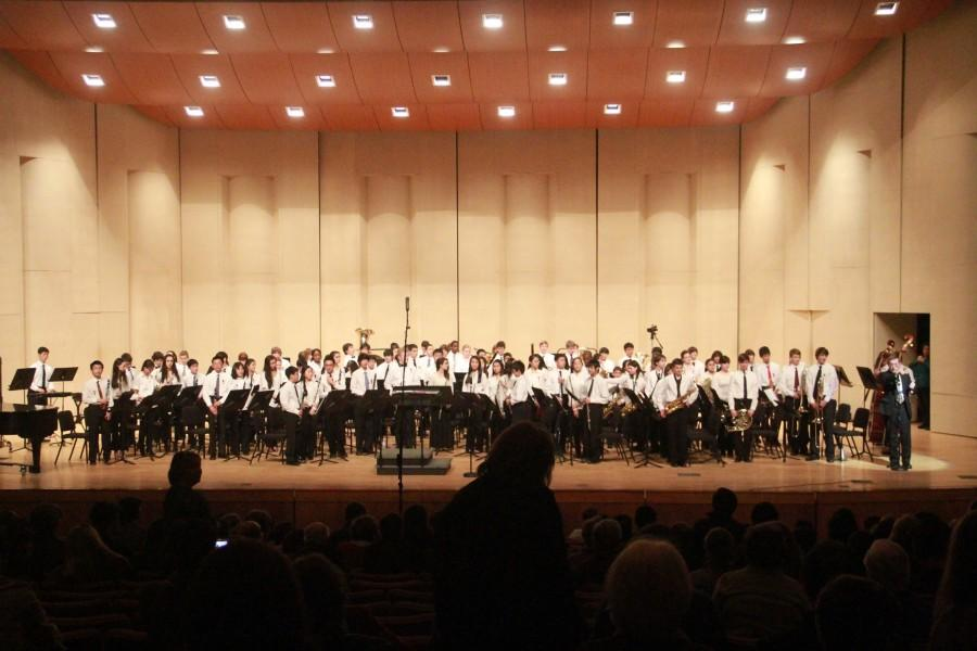 Students+perform+in+the+All-State+Band+performance+in+Feb.+2014.Some+students+are+part+of+the+CHS%2C+All-County+and+All-State+bands.+