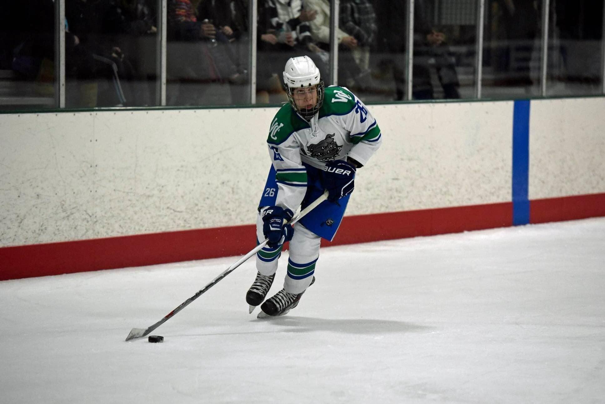 Senior Philip Satin, who has been skating since he was 3, has two state championship victories under his belt.