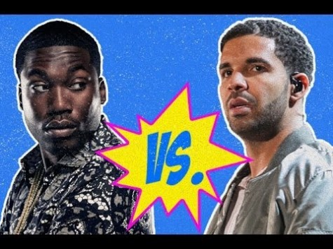 Meek Mill (left) and Drake (right) are both hip-hop artists who have had a long history of verbal spats with one another via their music.