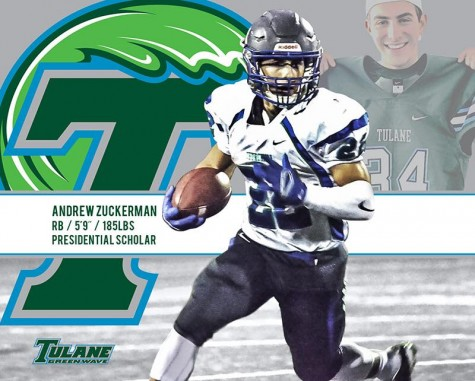 Running back and Churchill rushing yards-leader Andrew Zuckerman will play football at Tulane next fall.
