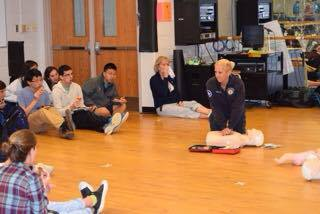 Junior Helps Host CPR Training