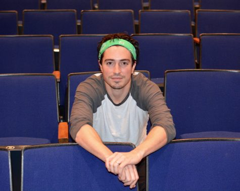 Feldman in the CHS auditorium during the interview.