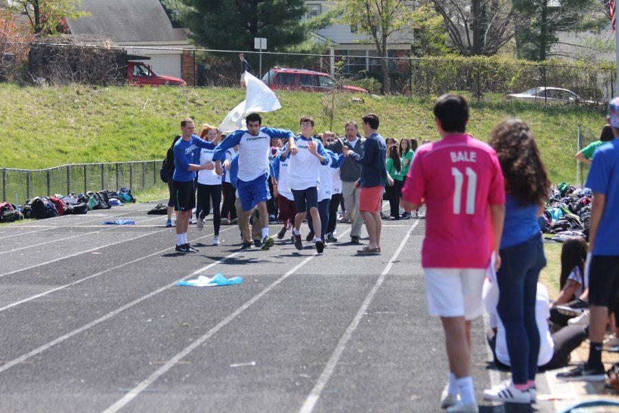 The Allied softball team is announced at the pep rally April 15.