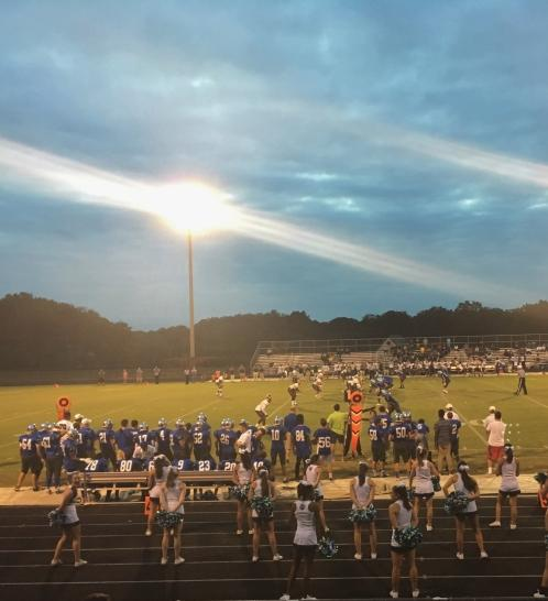 Cheerleaders look on as CHS takes on Einstien Sept. 9. The Bulldogs lost to the Titans 31-16 in their first home game of the season and are off to a 0-4 start.