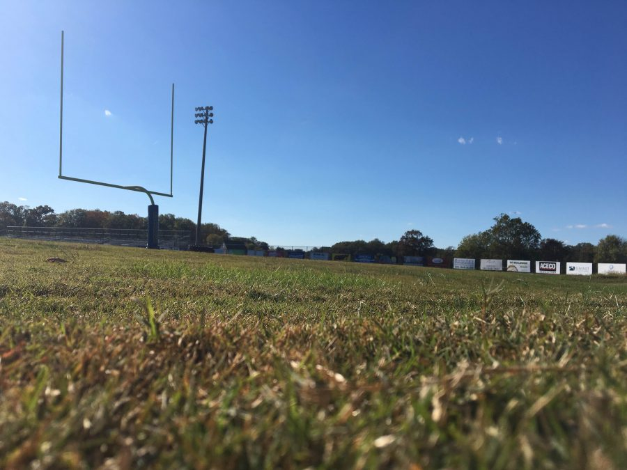 The natural grass field in the stadium at CHS will be replaced by turf.