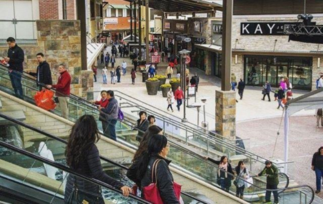 Pictured is the Clarksburg Premium Outlet.