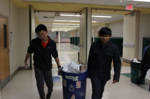 Environmental Club members work to decrease wastefulness at the school.