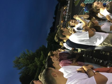 Students cheering on CHS at the football game against Whitman show spirit appropriately in