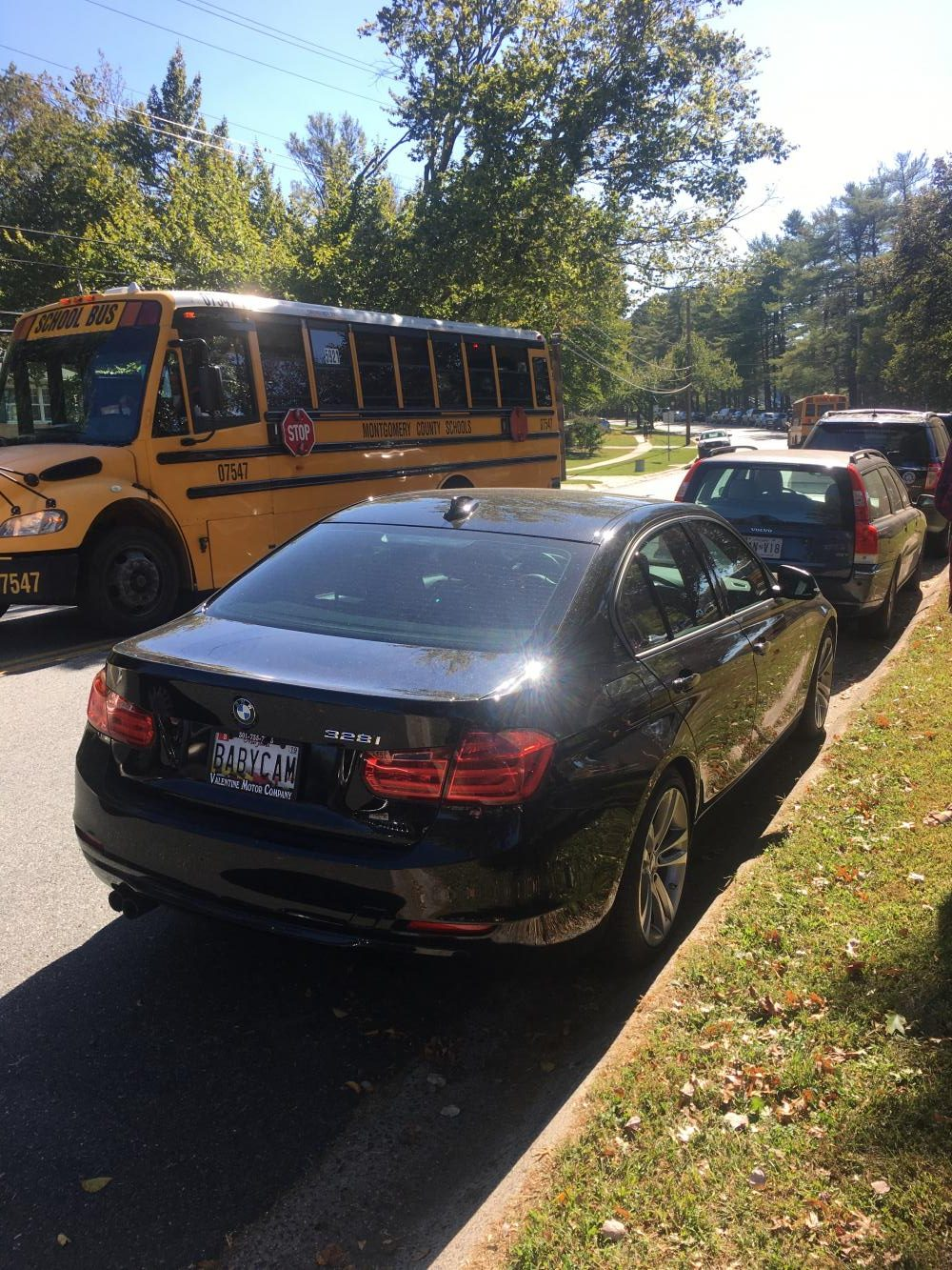 Junior Camie Kia's car parked on Gainsborough Road. She now parks there during the school day since she received a permit.