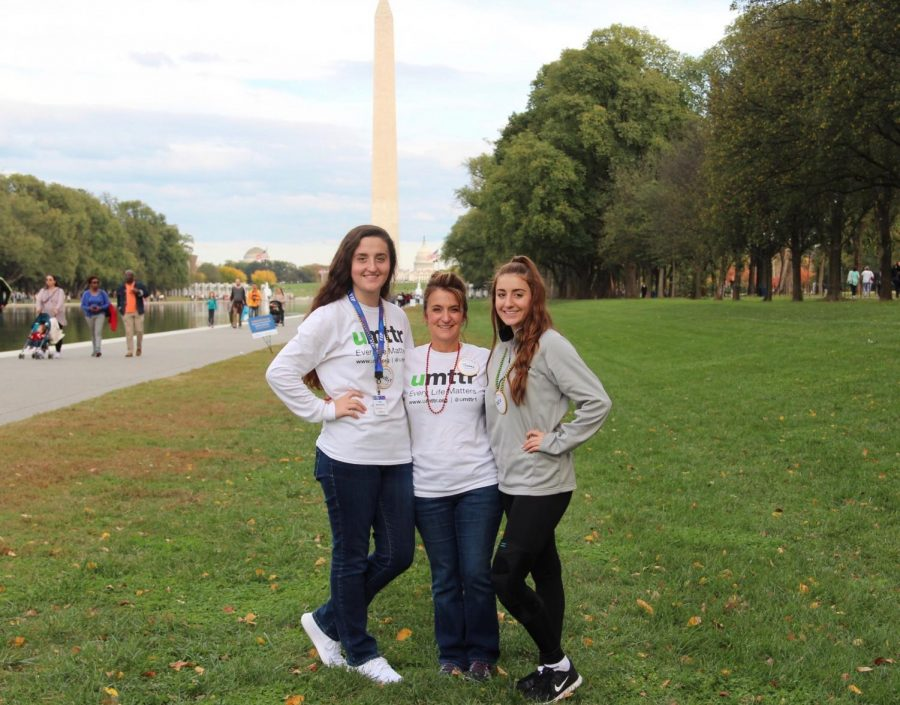 Shelly Baker (middle) and her children Gabriella (left) and Gina (right) led a team and fundraised over $2,000 at the Out of the Darkness Walk Oct. 28.