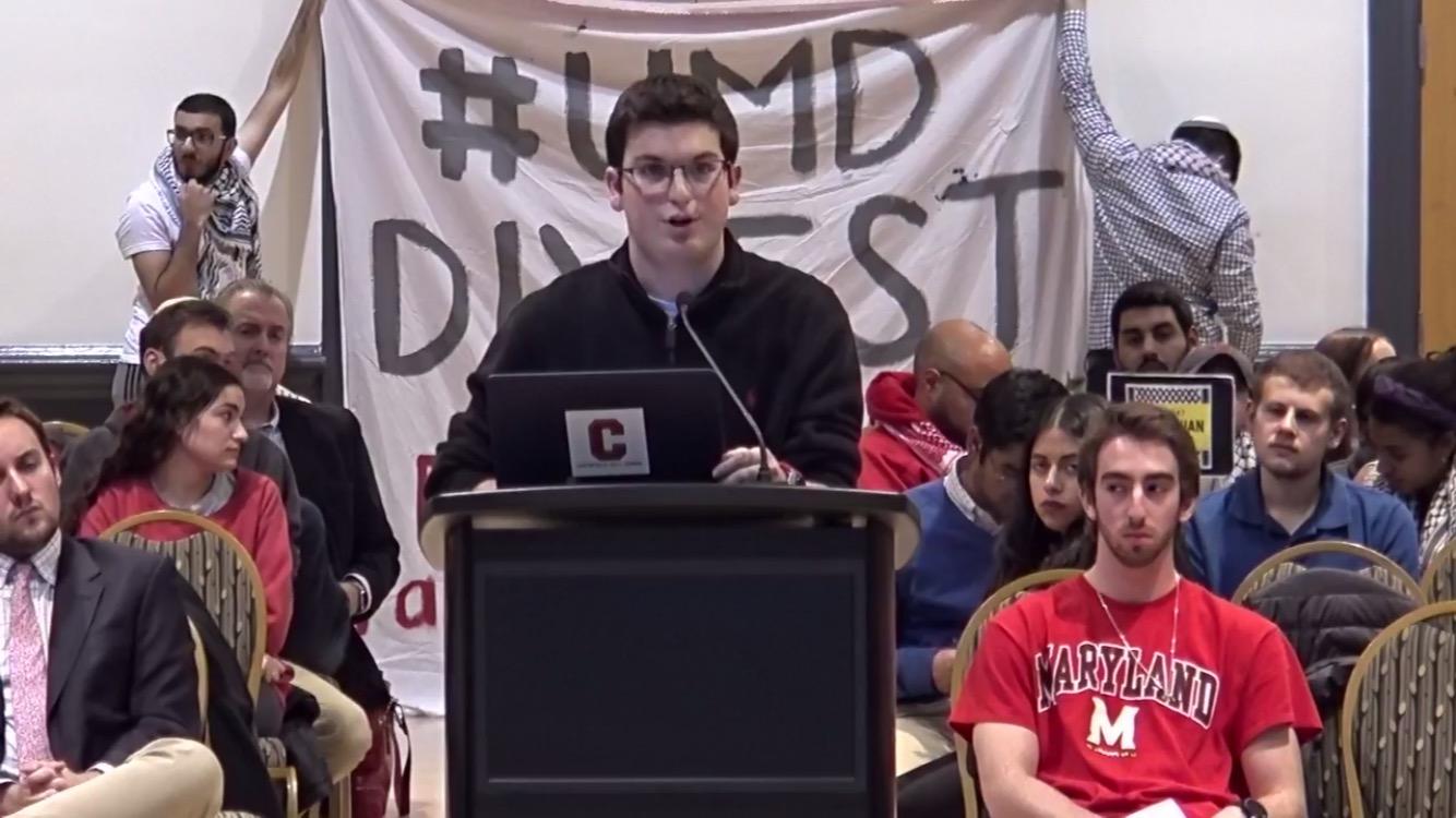 2017 CHS alumnus and current UMD freshman Dan Alpert speaks out against BDS.