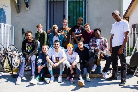 This month's new musical artist hip-hop collective Brockhampton.