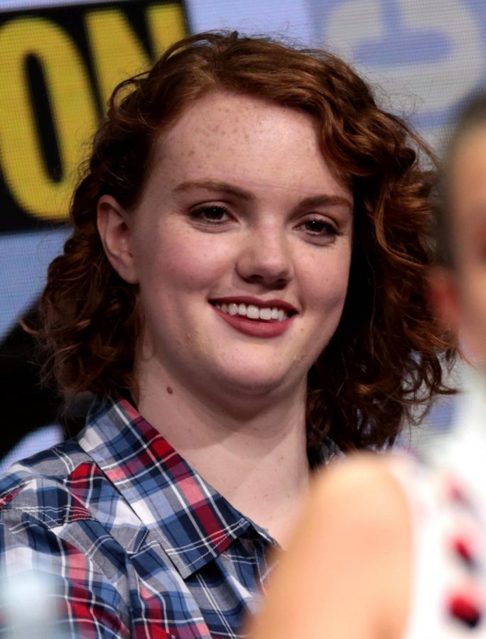 Actress Shannon Purser, who plays Sierra Burgess, poses at the 2017 San diego Comic con.