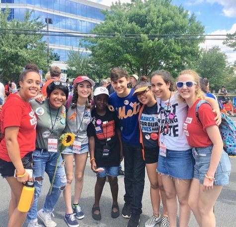 This is Dani and other members of Moco4Change at a protest of the NRA at the NRA headquarters. The new potential protest law will limit student activists' ability to show their opinions