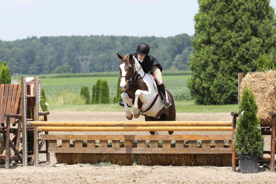 Senior+Courtney+Stefan+rides+horses+because+she+enjoys+spending+time+with+her+horse+and+the+sport+has+allowed+her+to+gain+confidence.+She+also+participates+in+competitions.