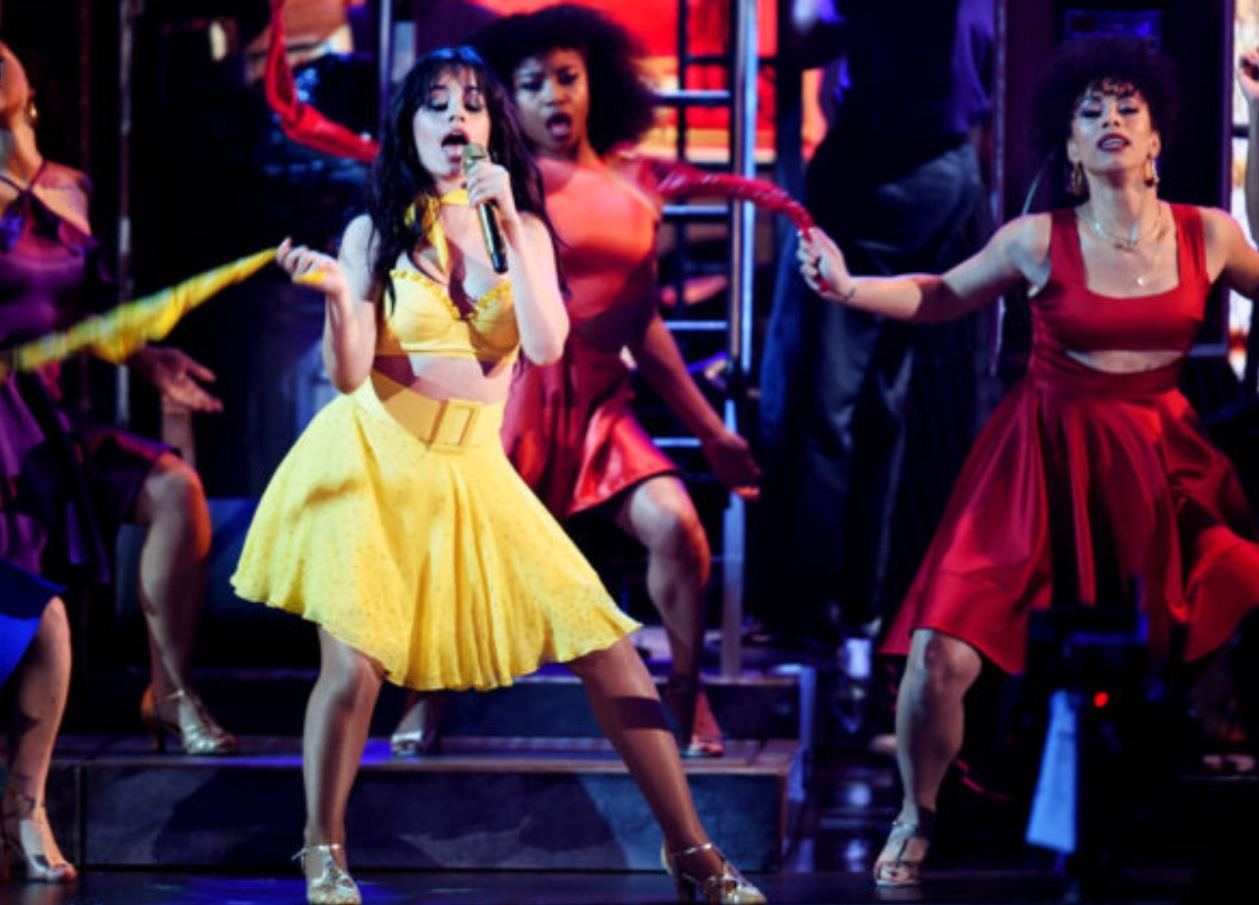 "Camila Cabello opening  the 2019 Grammy Awards ceremony with a performance of her song ""Havana."""