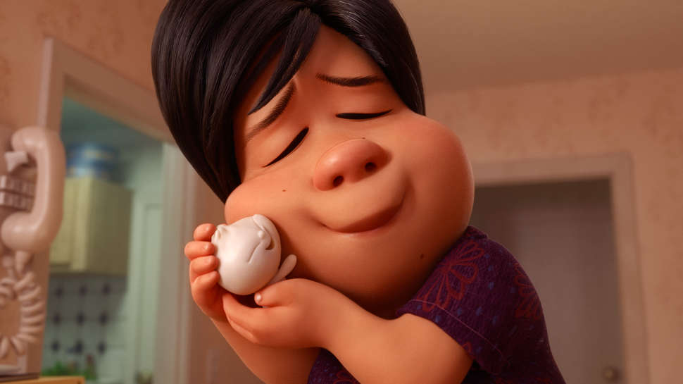 the Oscar award winning short film, Bao, is depicted of a the mother with her baby dumpling.
