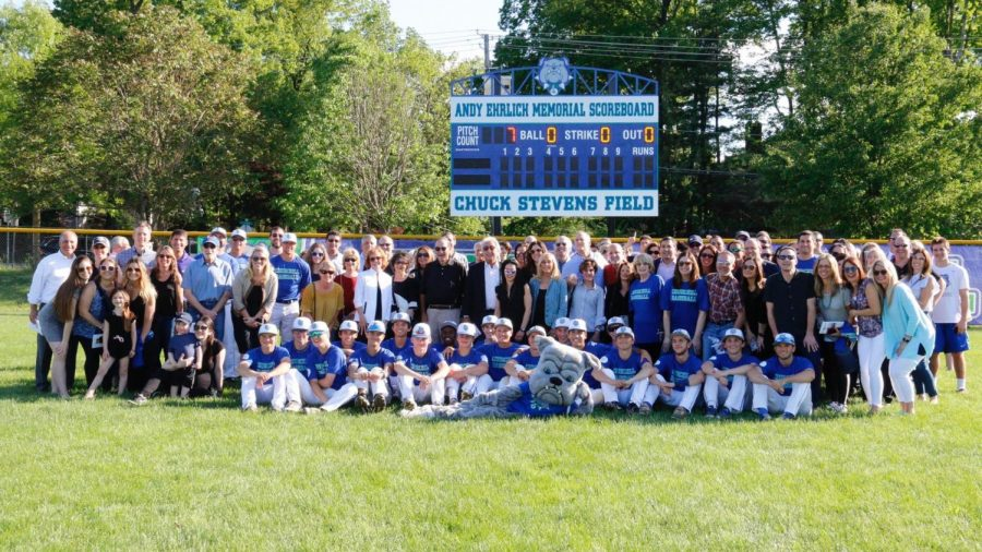Over 100 people came together to the new scoreboard dedication to help commemorate the legacy of Andy Erlich.