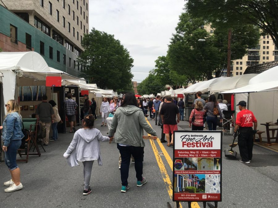 A view of the entrance to the Bethesda Arts Festival.