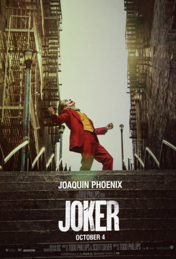 The+movie+cover+for+The+Joker+entices+viewers+to+watch+the+film.+