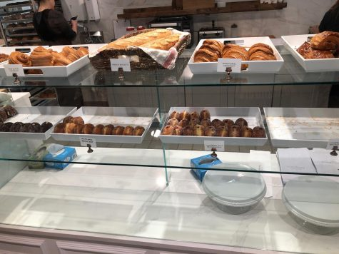 A few of the tasty pastries that the Sunday Morning Bakehouse offers, such as the ham and swiss croissant and strawberry jelly brioche donut.