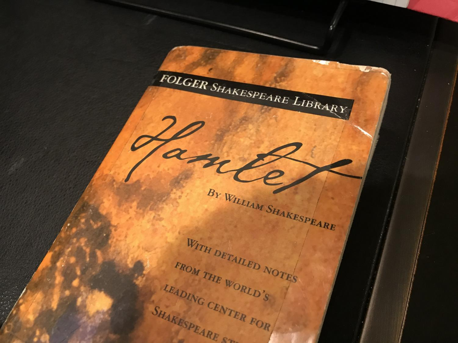 Books such as this copy of Hamlet are simply scripts of plays, which were meant to be watched live