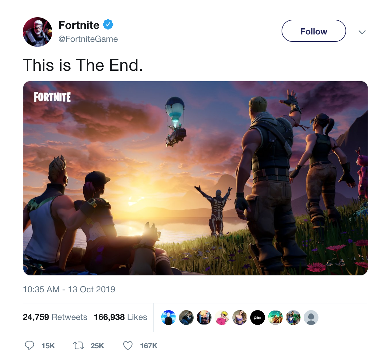 The first piece of evidence from Fortnite and EA since the black hole incident made players believe the game could have really come to an end.
