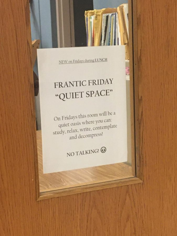 Mr.Sanz has implemented the Frantic Friday program to help his orchestra students de-stress. On Fridays, students have the chance to study for classes, catch up on homework or even take a nap.