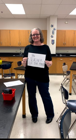Catherine Trouteaud, the teacher of the month for the January publication.