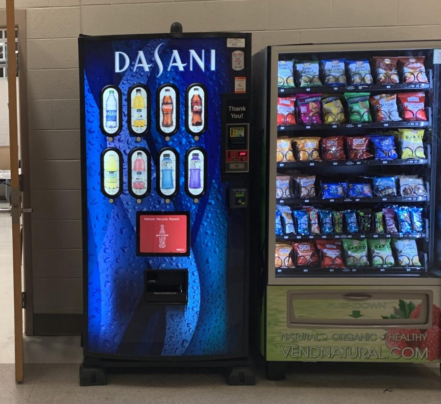 All WCHS vending machines have been replaced over the last few months. Shown are two of the new kinds of vending machines that have been installed around the school.