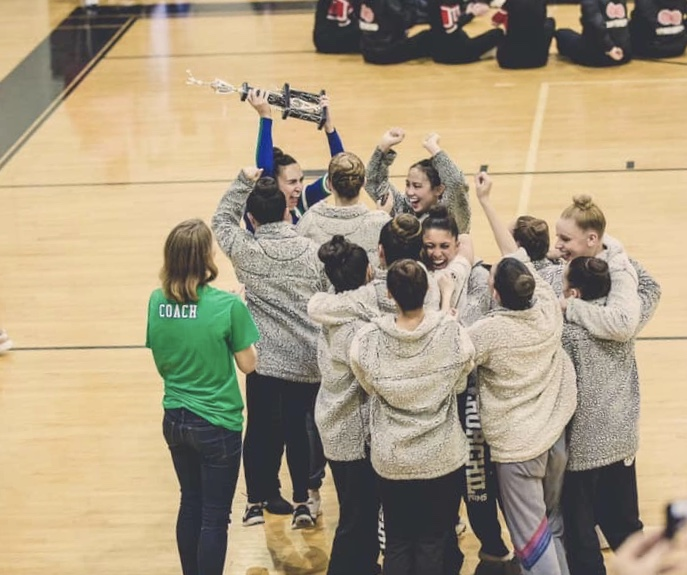 The WCHS Varsity Poms team took first place at their county competition on Feb. 1, 2020 at Blair High School.