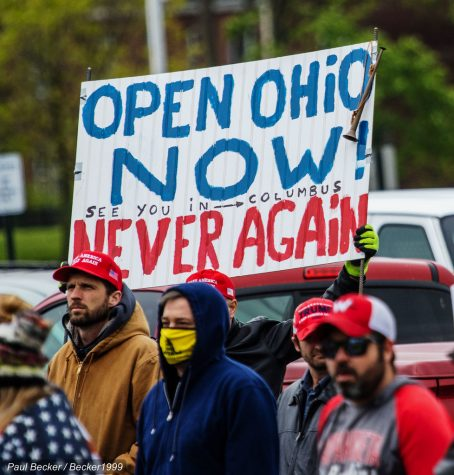 Protestors rally in Ohio, urging for the state to open up again, protesting the current stay at home order.