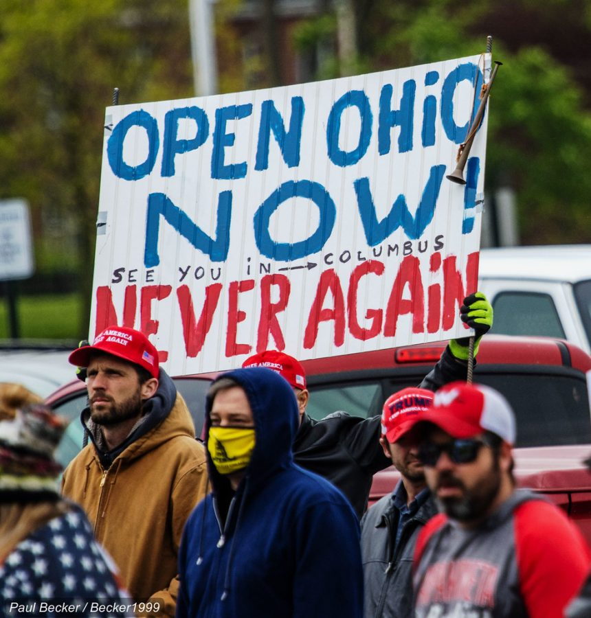Protestors+rally+in+Ohio%2C+urging+for+the+state+to+open+up+again%2C+protesting+the+current+stay+at+home+order.