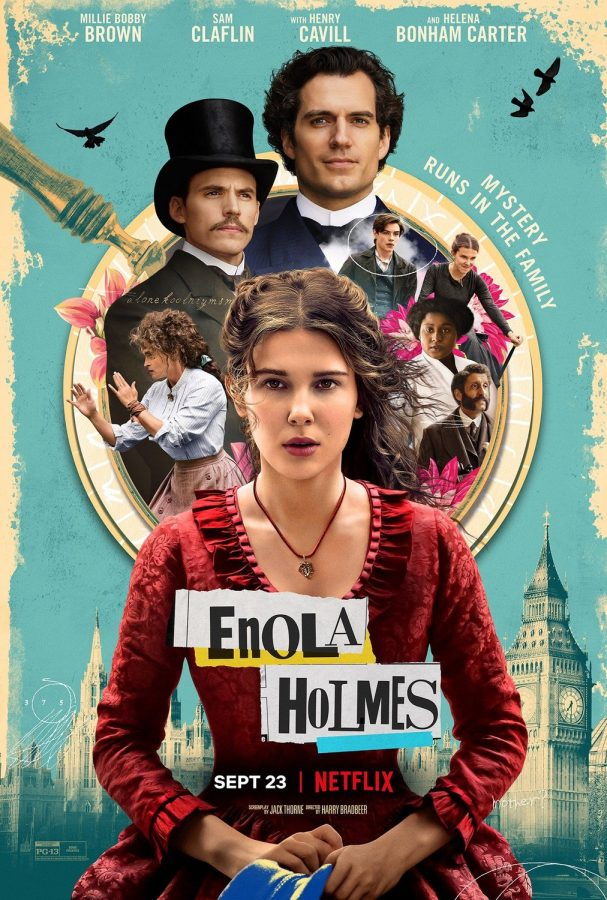 Netflix+Original+%22Enola+Holmes%22+released+September+23%2C+2020%2C+stars+Millie+Bobby+Brown+as+the+lead.+The+film+has+consistenty+remained+on+the+top+ten+charts+for+the+past+two+weeks.++
