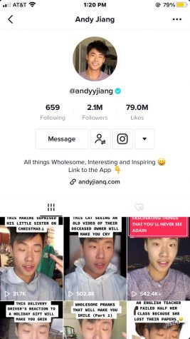 WCHS Senior Andy Jiang's TikTok account focuses on educational content. Each of his posts tell stories and interesting facts about various different topics.
